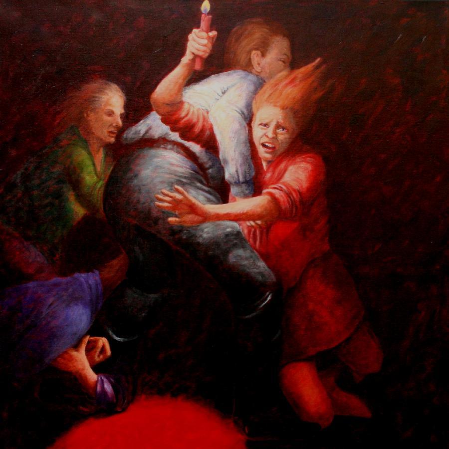 Gruppe 1 / 2016, 100 x 100 cm, Acryl auf Leinwand